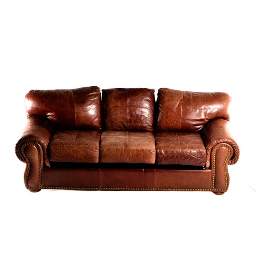 Chesterfield Leather Sleeper Sofa Ebth