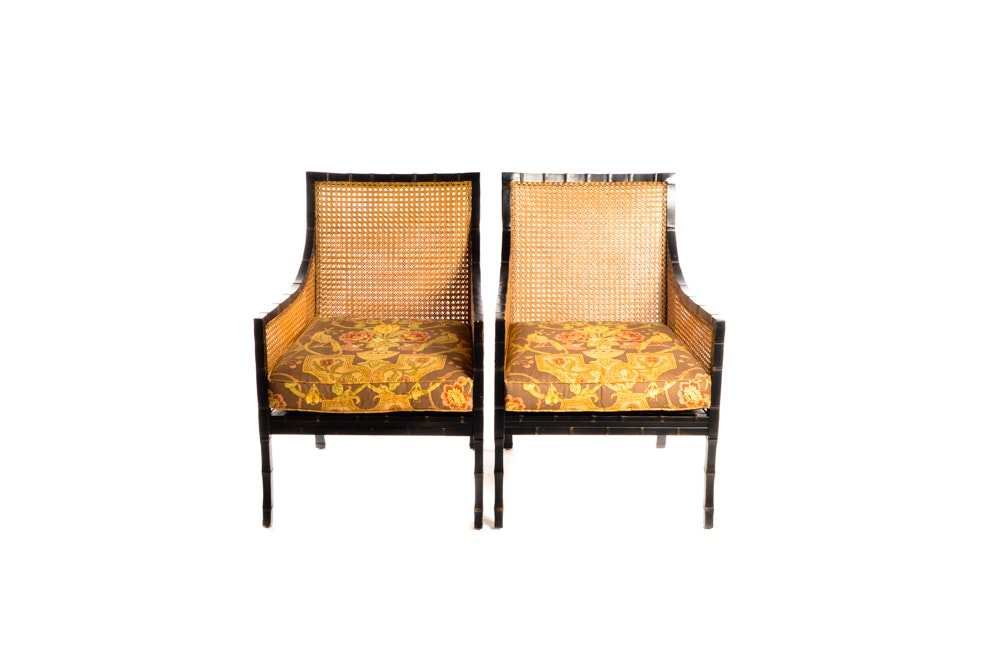 Pair of Cane Back Chairs