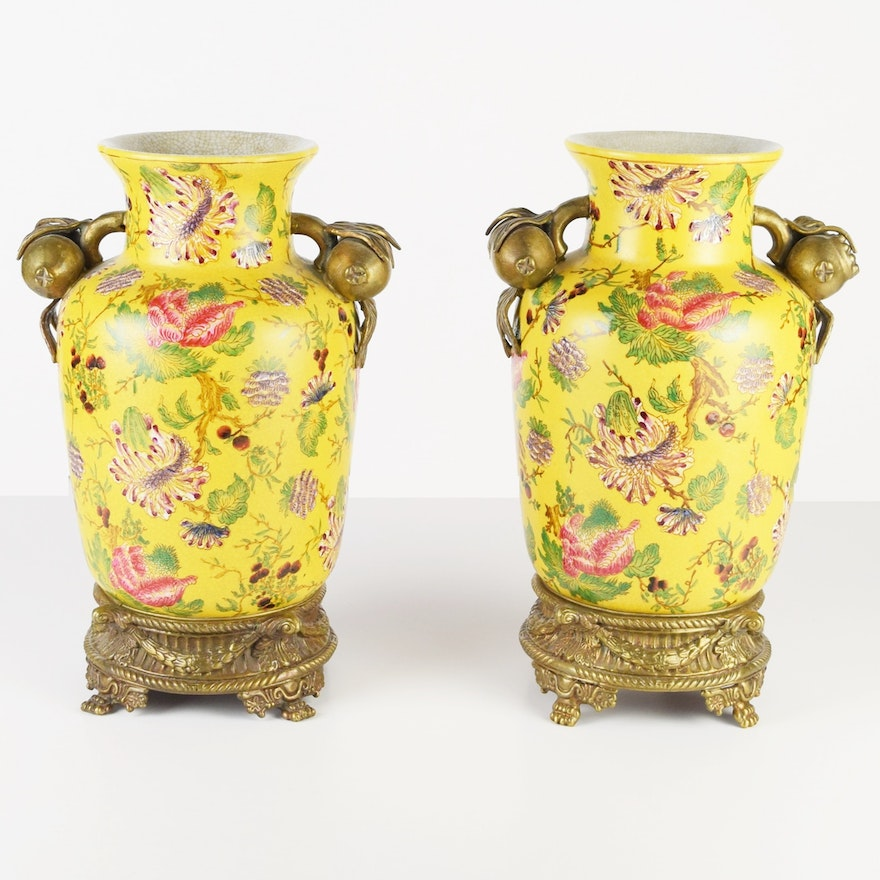 Pair of Decorative Chinese Yellow Vases with Br Mounts : EBTH Decorative Yellow Vases on yellow floor vases, yellow decorative boxes, yellow decorative stone, large blue ceramic vase, yellow decorative decor, yellow decorative cross, yellow decorative glass, yellow vases ikea, yellow decorative plate, yellow decorative soap, glass bowl vase, yellow vases wholesale, yellow decorative accessories, fenton hobnail vase, southern living tuscan vase, antique cut glass bud vase, yellow decorative chandelier, yellow decorative box, yellow decorative rug, yellow decorative pillow,