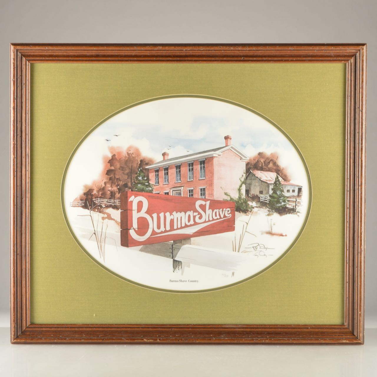 Burma Shave Signed Limited Edition Lithograph