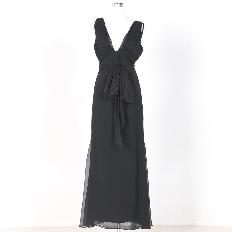 Vera Wang Black Evening Gown : EBTH