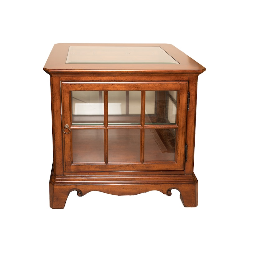 Thomasville Curio Cabinet End Table Ebth