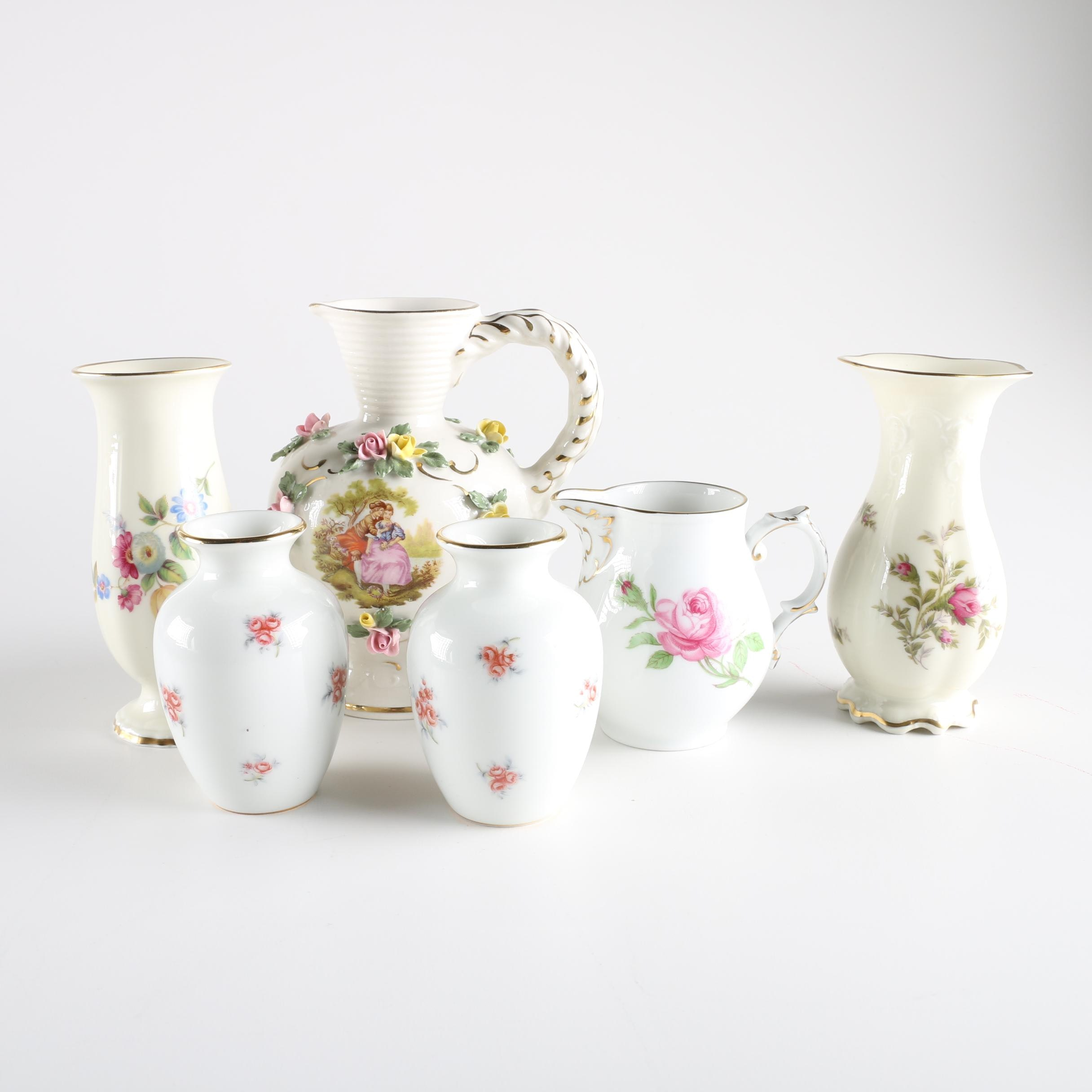 German China Bud Vases from Haviland, Dresden and Rosenthal