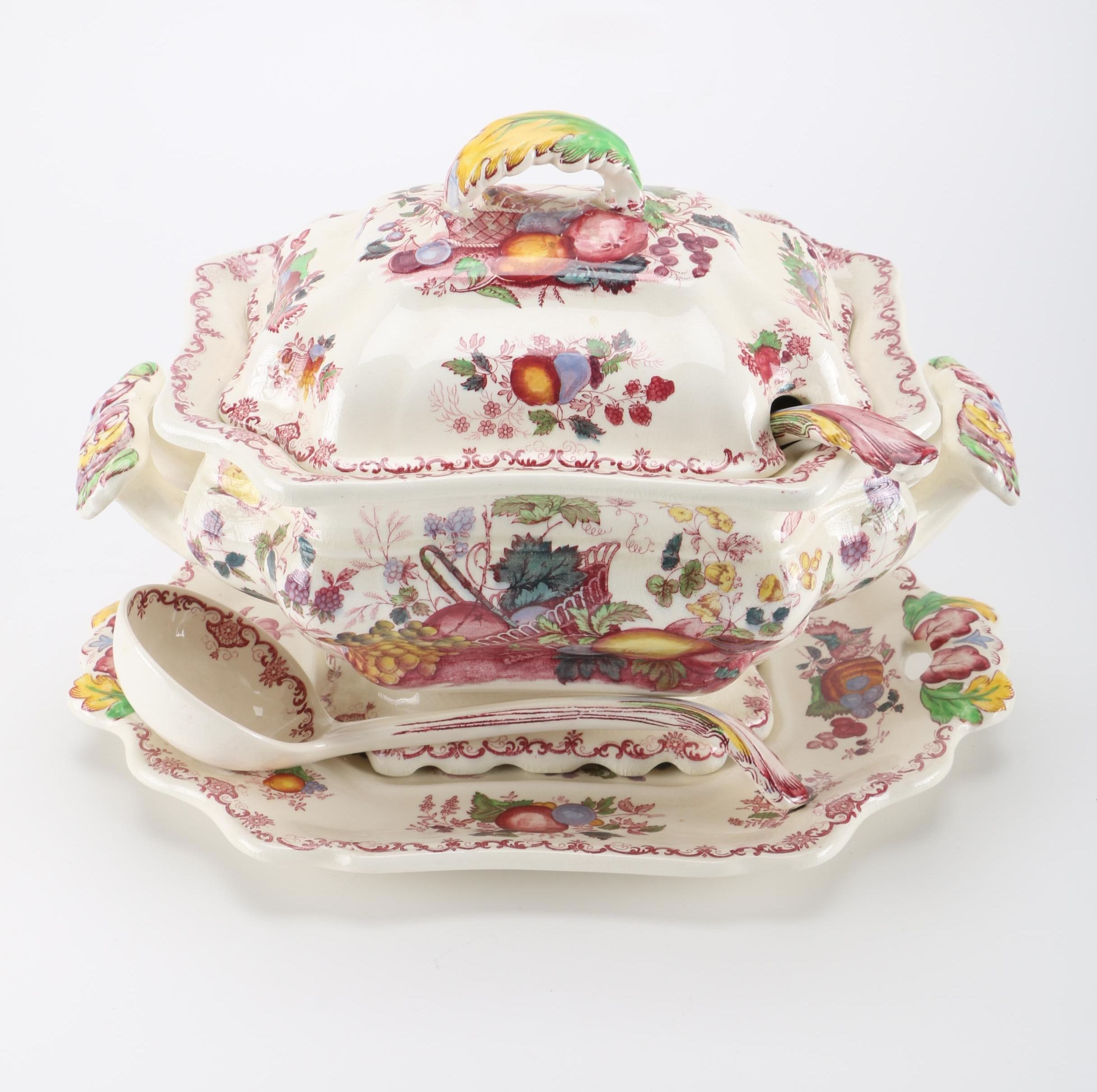 "Mason's ""Fruit Basket"" Ironstone China Tureen and Accessories"