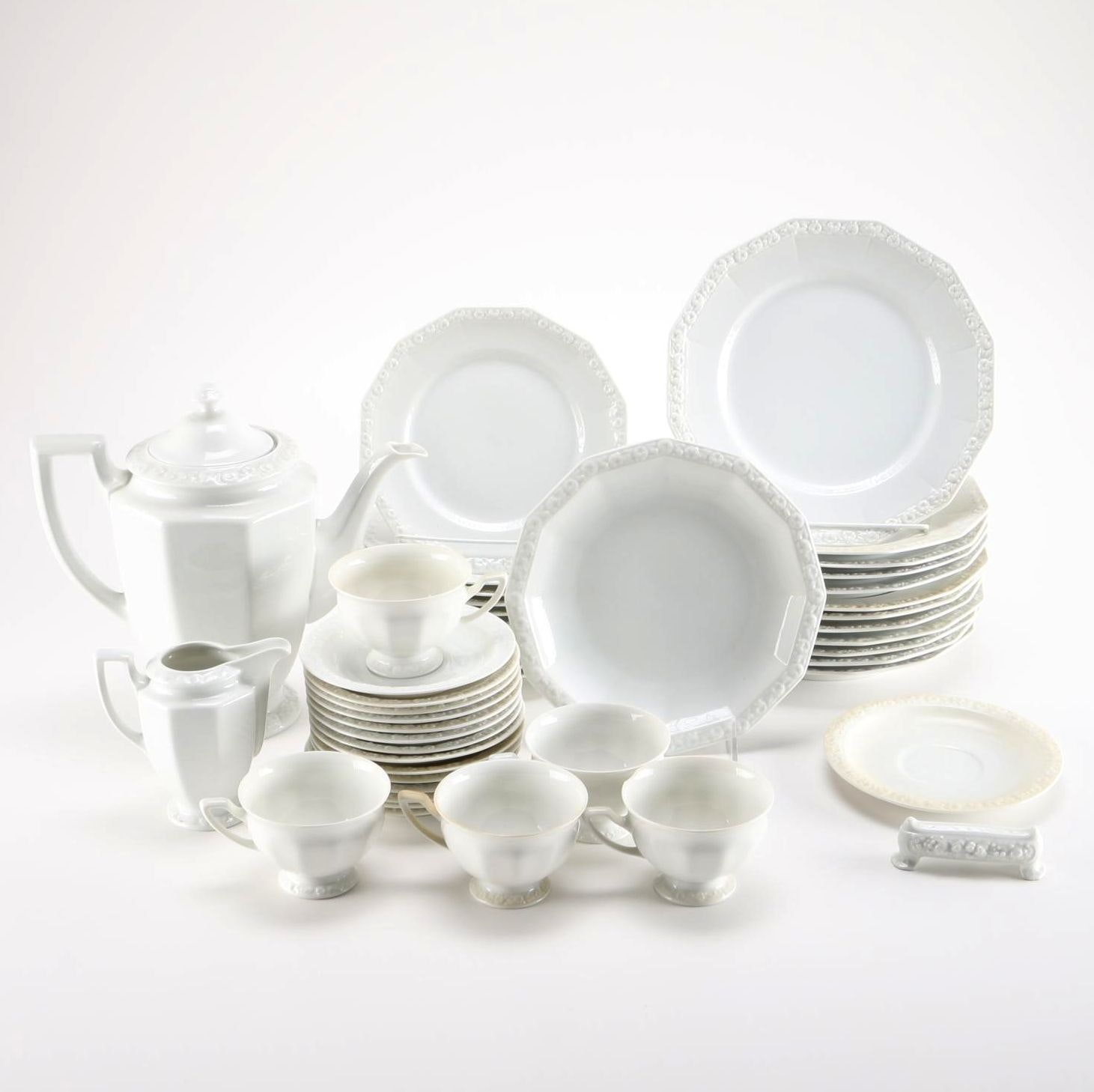 "Collection of Rosenthal ""Maria"" White China Tableware"
