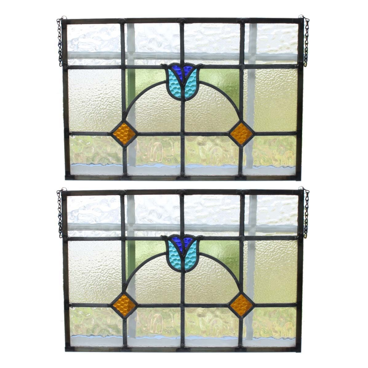 Vintage Stained Glass Window Panels