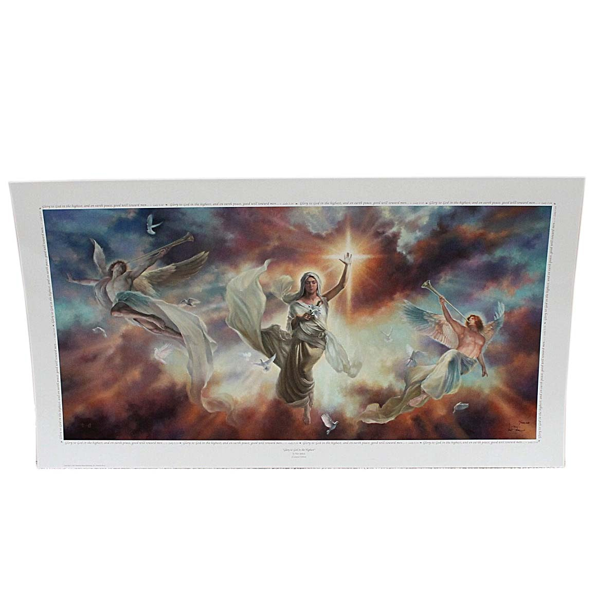 """Tom duBois Signed Limited Edition Offset Lithograph """"Glory To God In The Highest"""""""