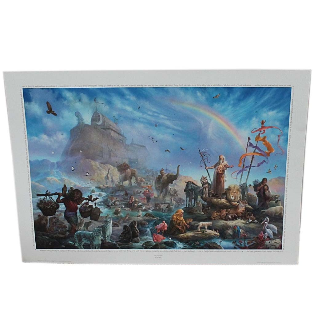 """Tom duBois Signed Limited Edition Offset Lithograph """"The Celebration"""""""