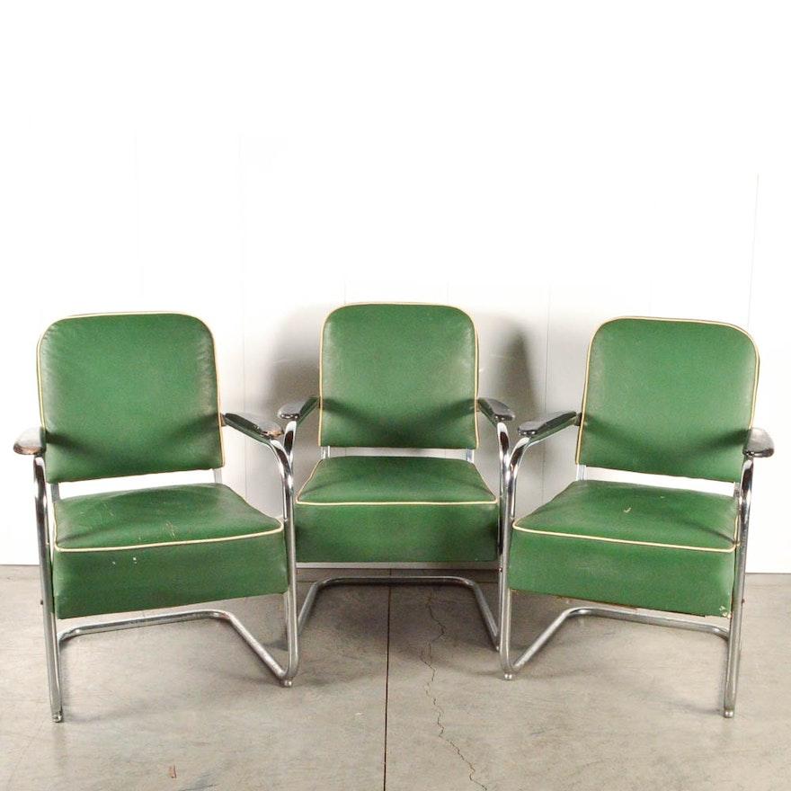 Chrome Waiting Room Chairs