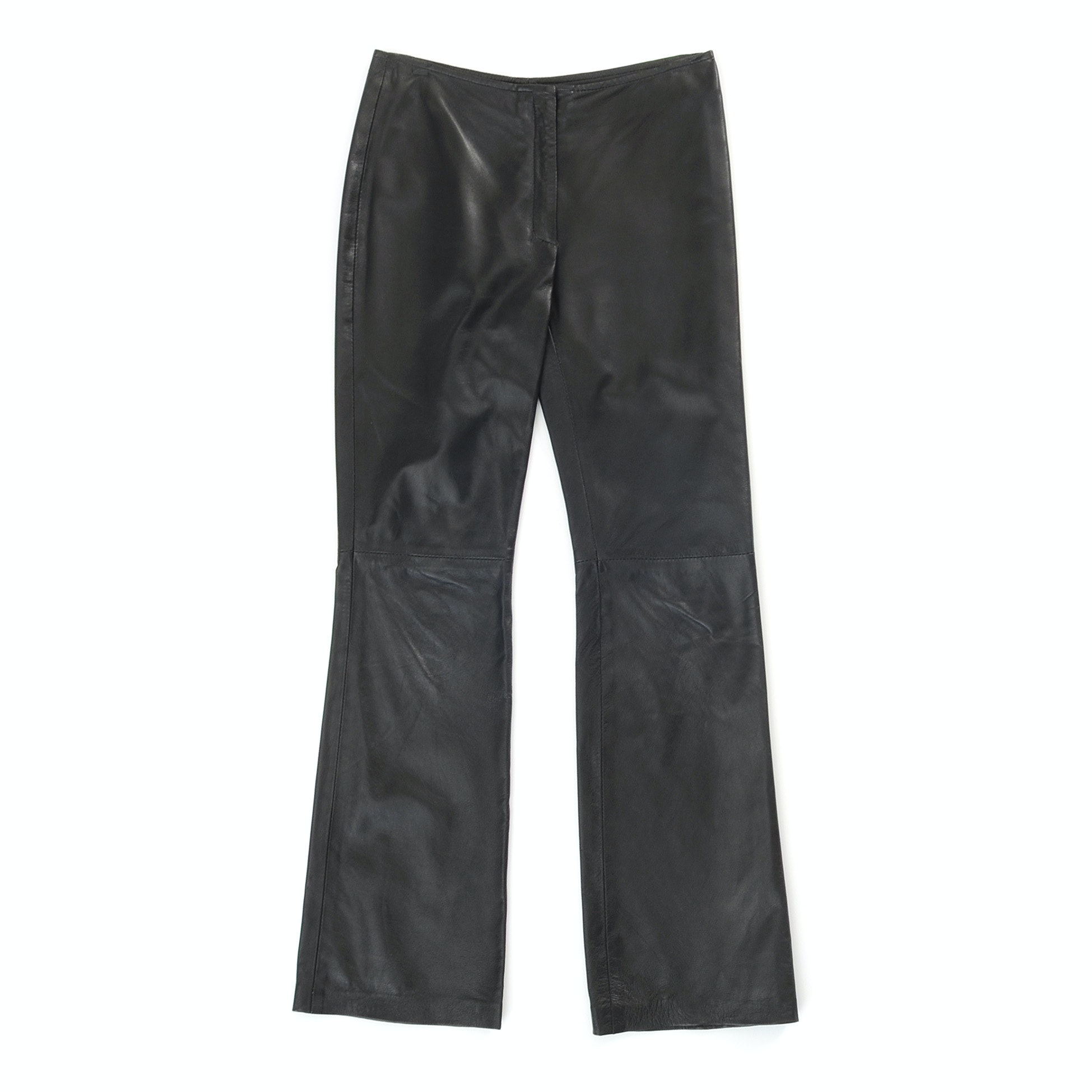 Jill Stuart Black Lambskin Leather Pants
