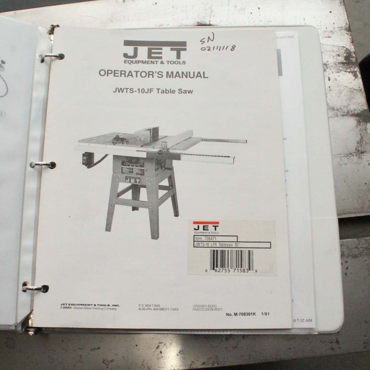 Jet 10 Quot Contractor S Table Saw With 34 Quot Jet Xacta Fence Ii