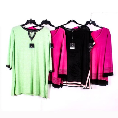 18dbdc0f81270 Collection of Ming Wang Wrinkle Free Tunic Tops