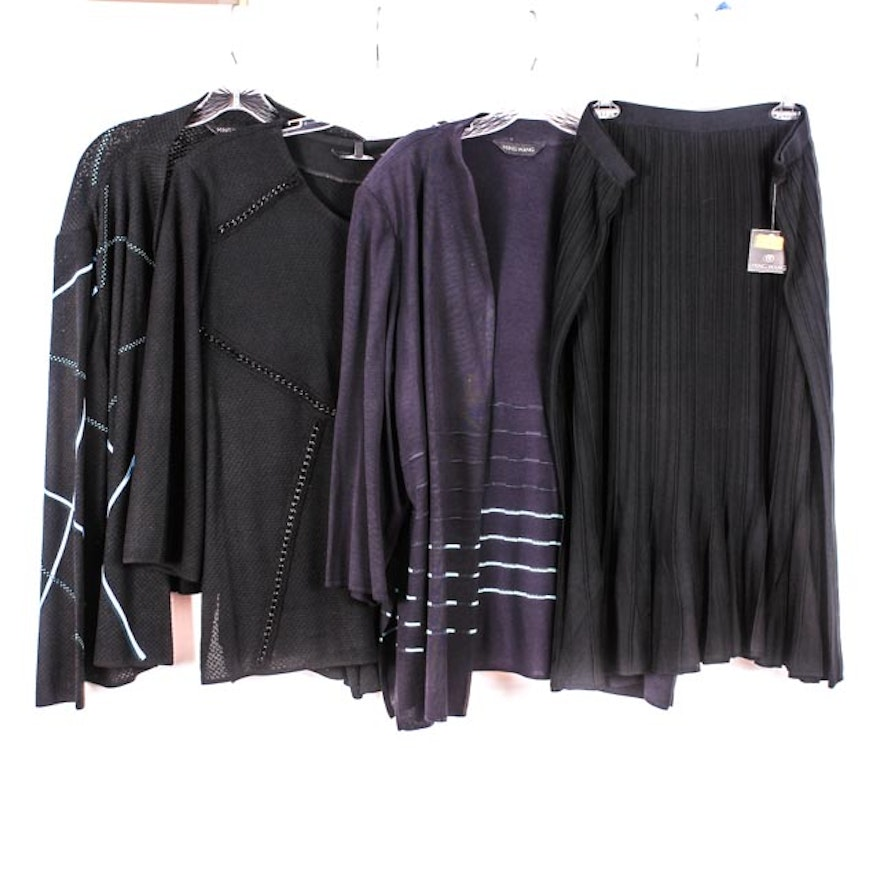 7e509ae760b8f Ming Wang Plus Size Pleated Skirt with Tops   EBTH