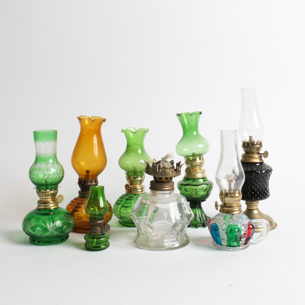 Collection Of Small Oil Lamps ...