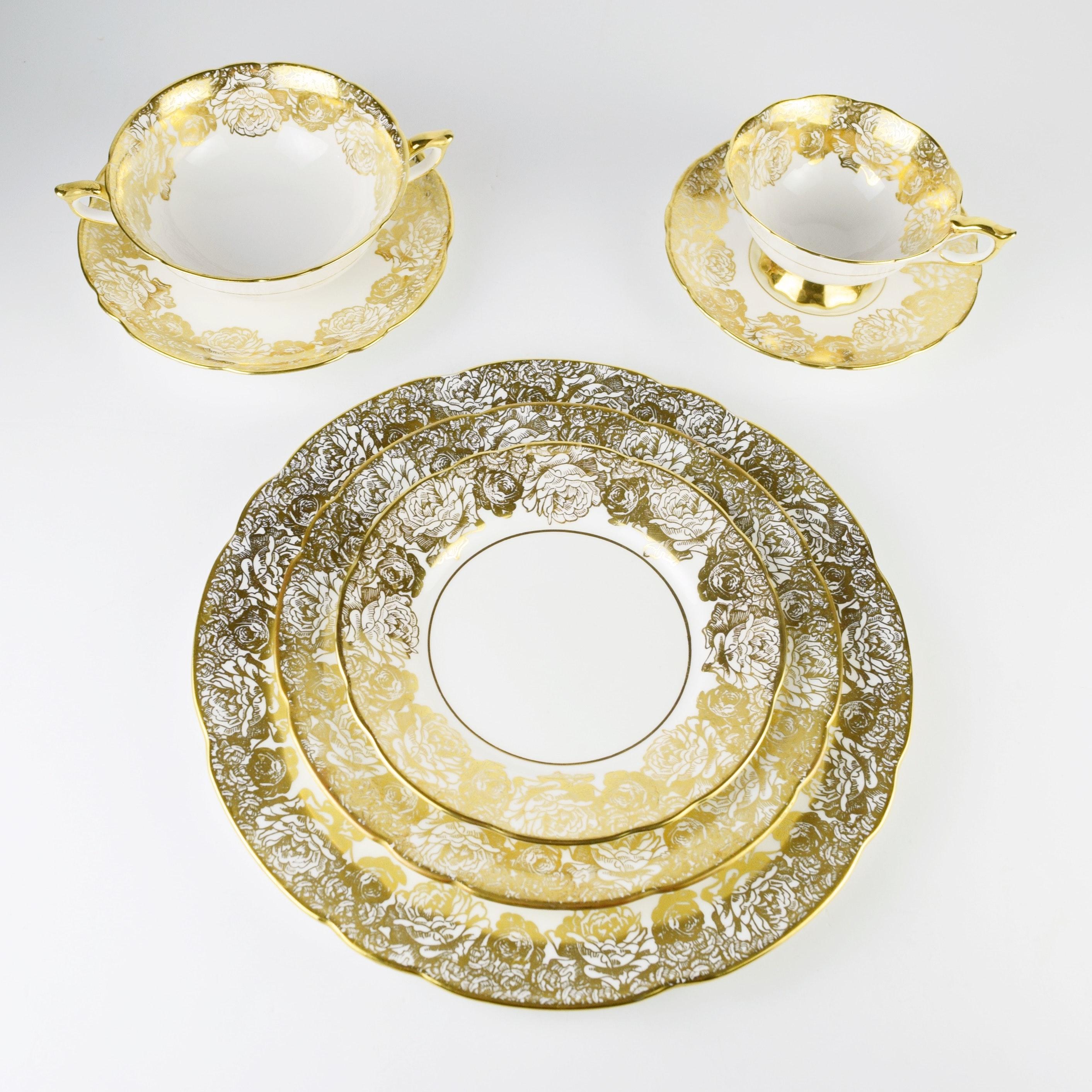 Royal Stafford  Golden Bouquet  English Bone China Dinnerware ...  sc 1 st  EBTH.com & Royal Stafford