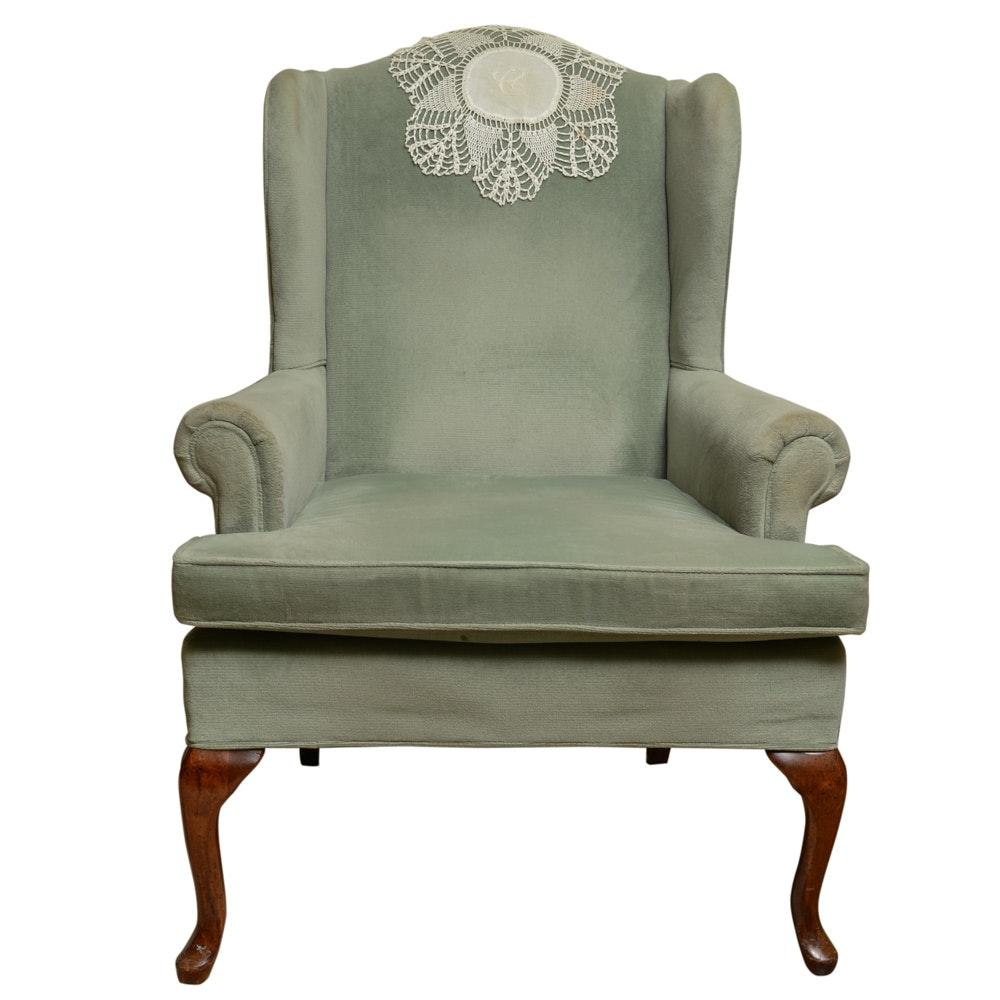 Fairfield Louis XVI-Style Wingback Bergere Chair