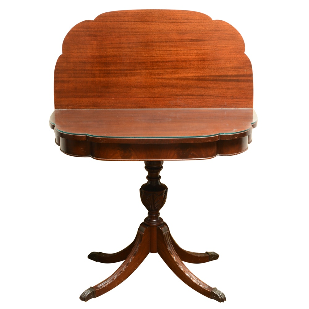 20th Century Classical Style Flip Top Games Table