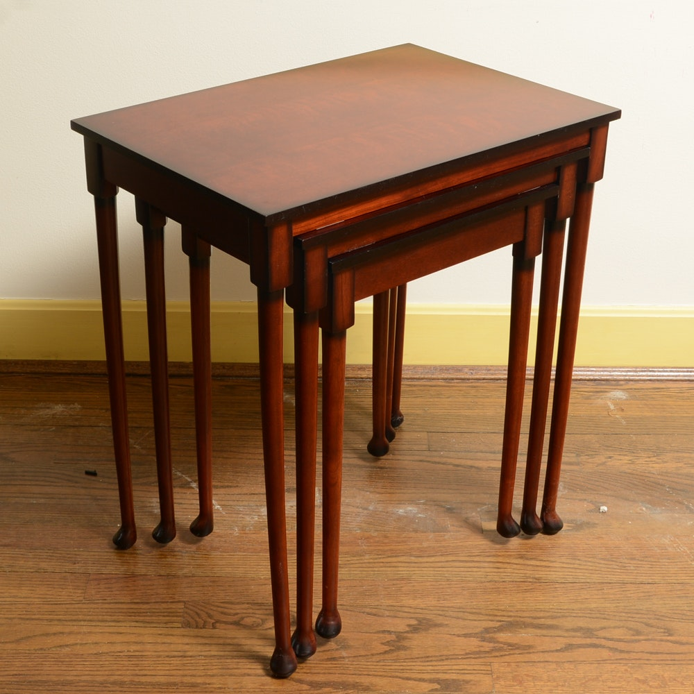 Contemporary Nesting Tables ~ Contemporary nesting tables by bombay ebth