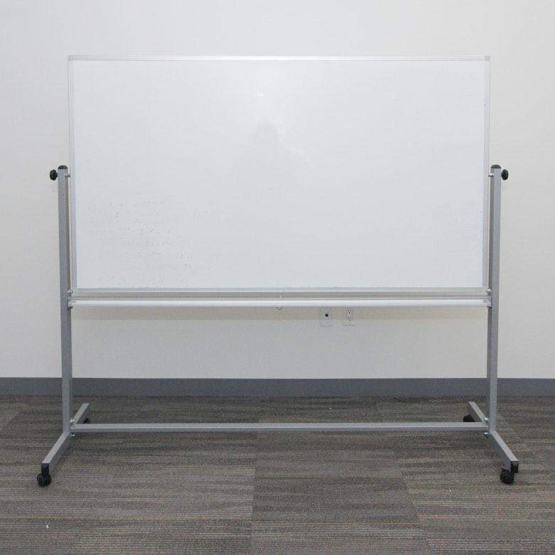 Rolling Double Sided Dry Erase Board