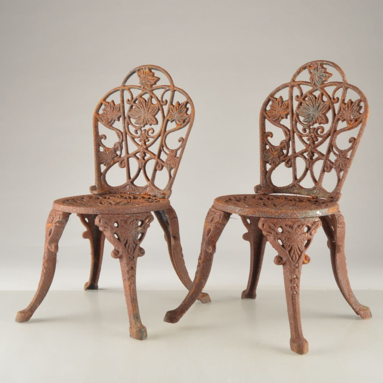 Vintage Miniature Cast Iron Chairs ...