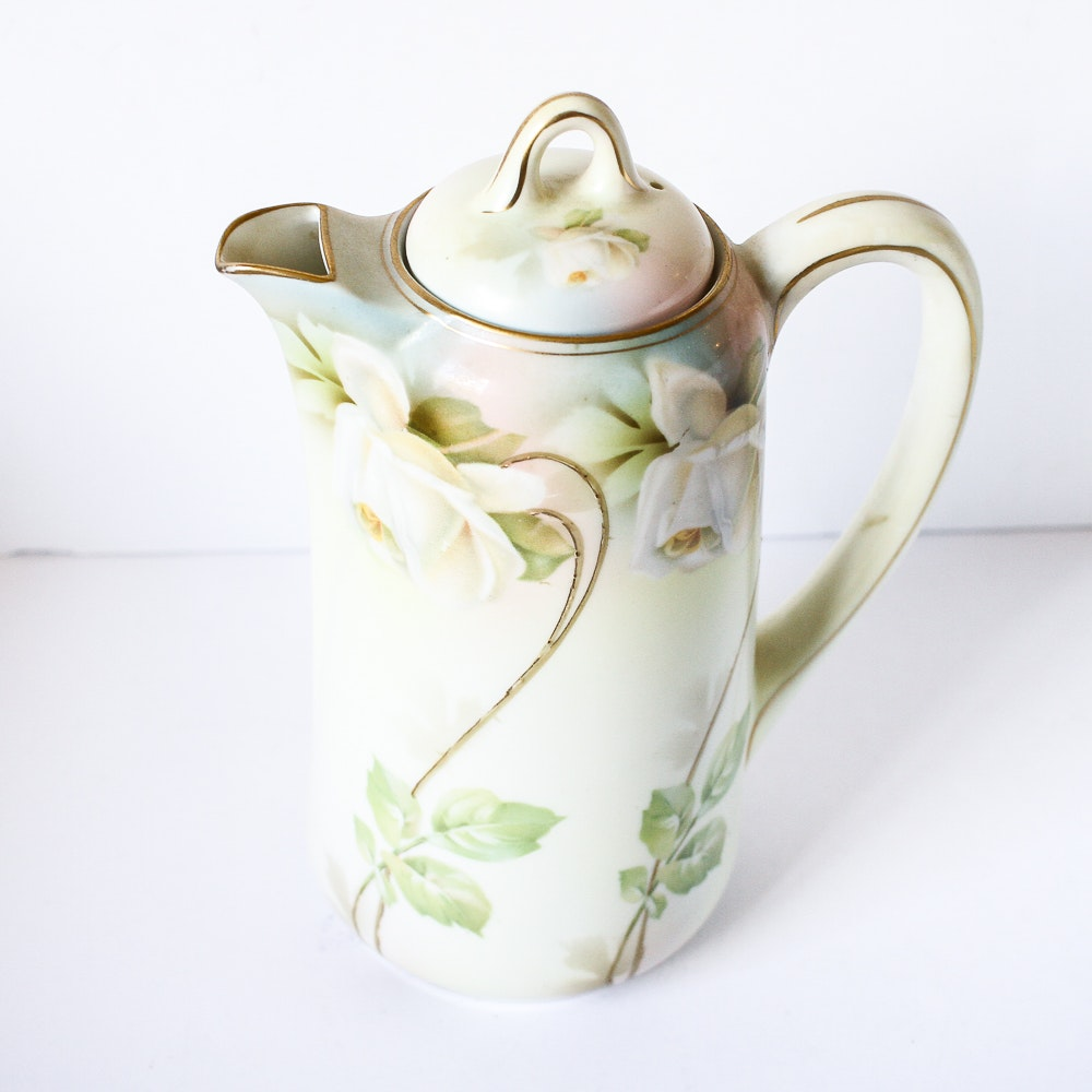 Vintage R.S. Germany Hand-painted Porcelain Pitcher