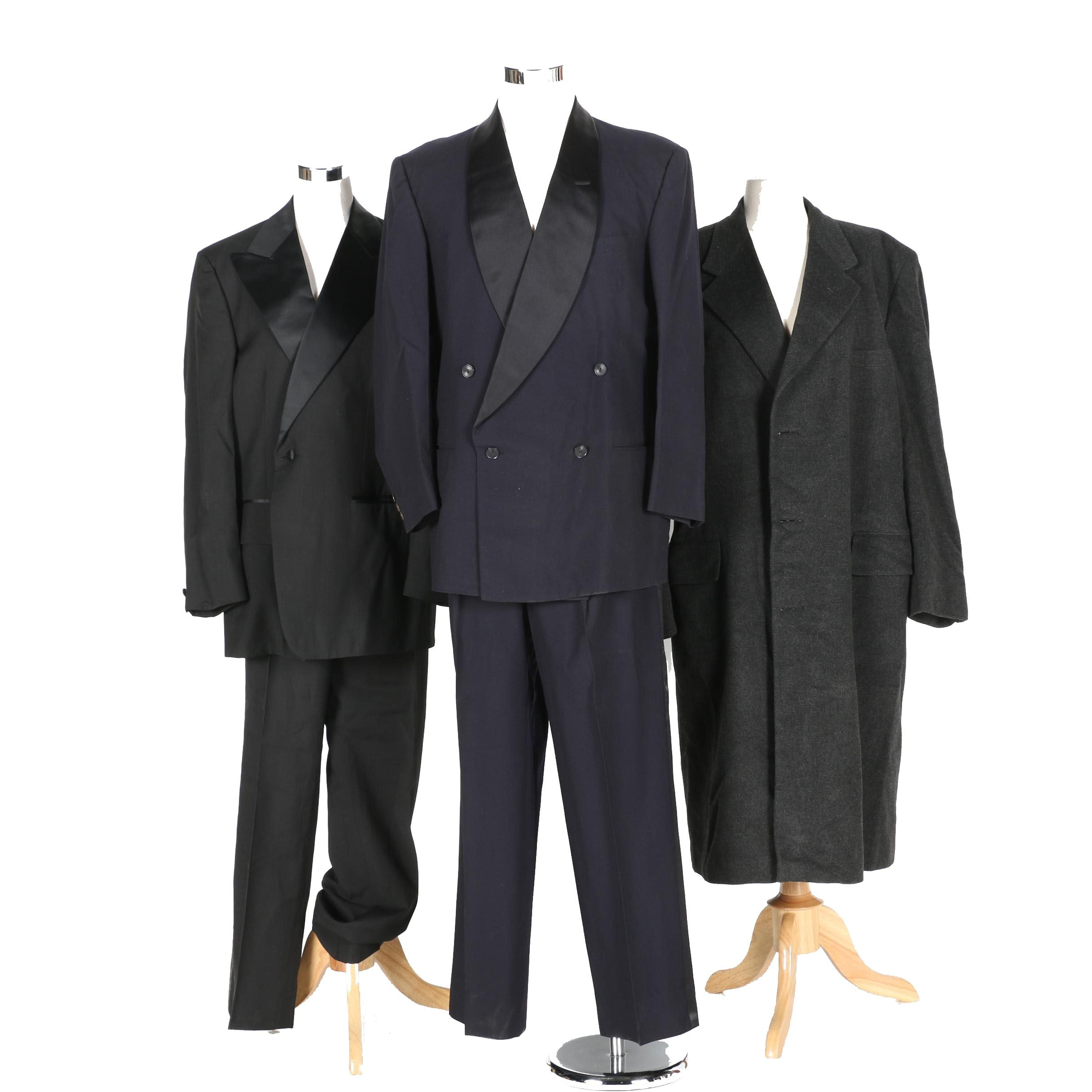 Men's Formal Wear Including a Wool and Cashmere Overcoat