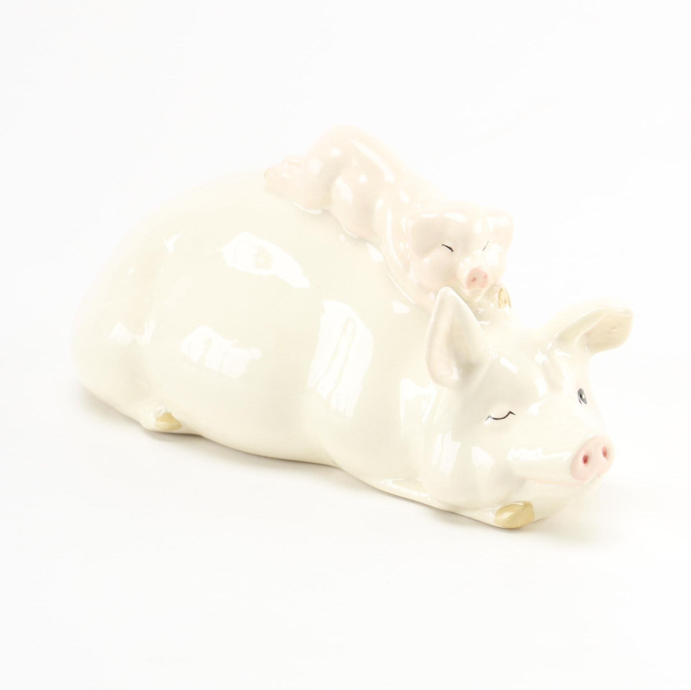 Beswick Sow and Piglet Figurine