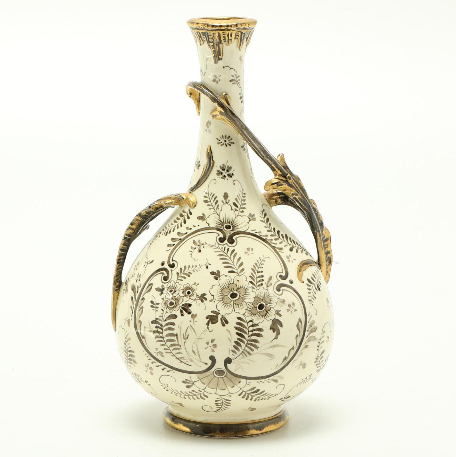 "Antique Mehlem Royal Bonn ""Delft"" Vase"