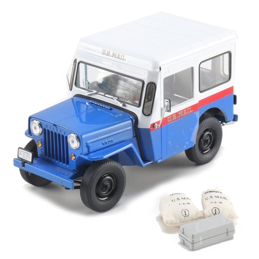 Old Postal Jeeps For Sale: 1954 Danbury Mint Willy Jeep U.S. Mail Truck
