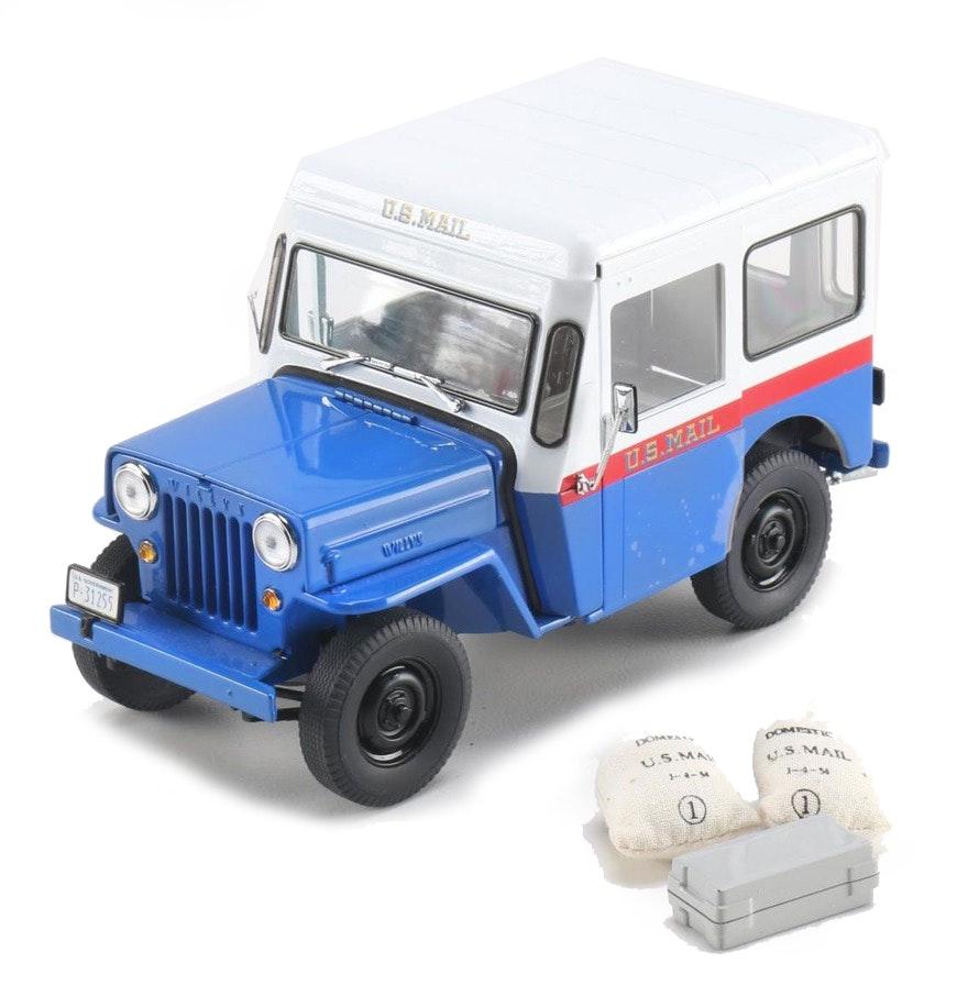 Old Postal Jeeps For Sale: 1954 Danbury Mint Willy Jeep U.S. Mail Truck : EBTH