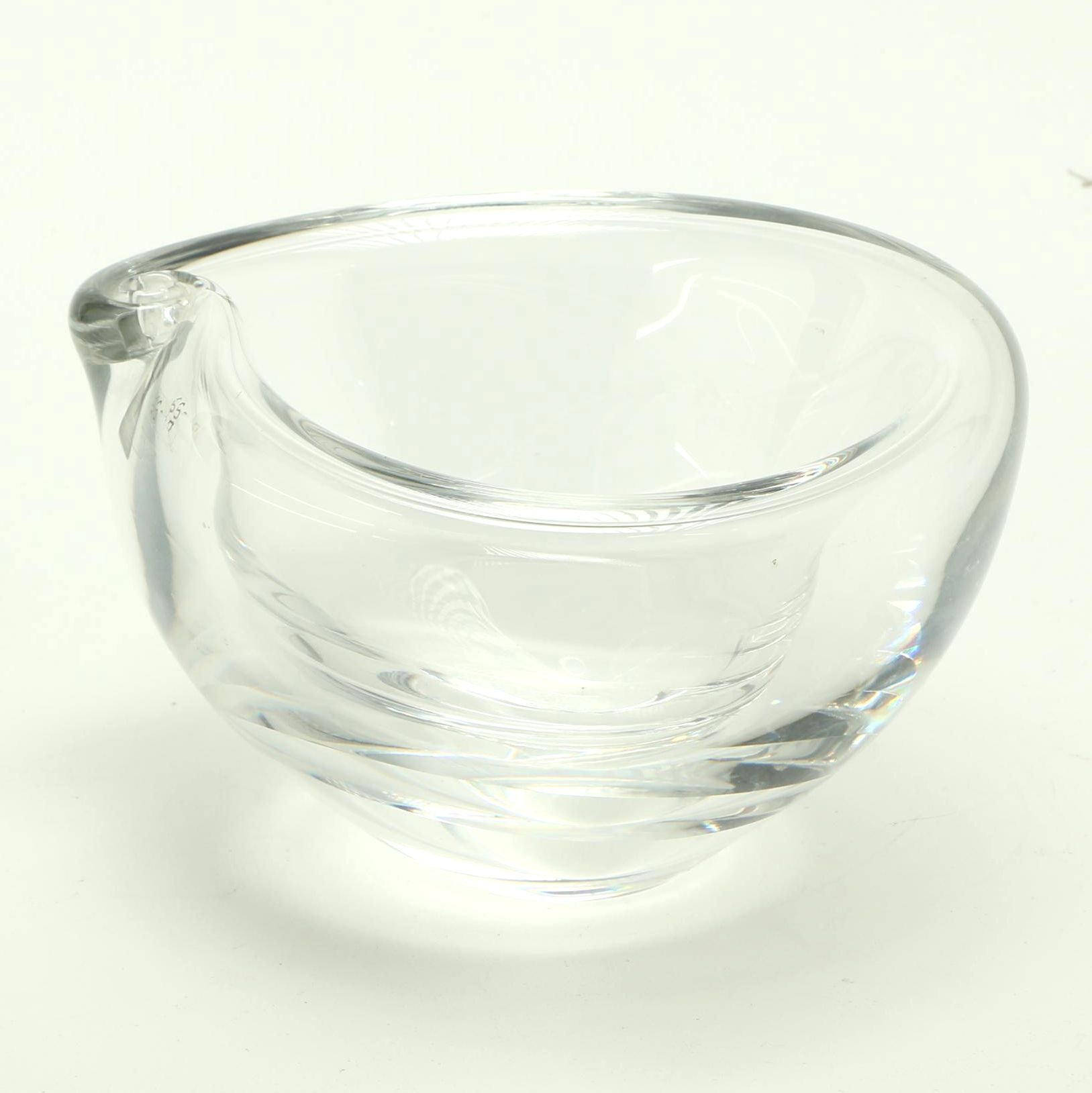 Handmade Mats Johansson Crystal Bowl