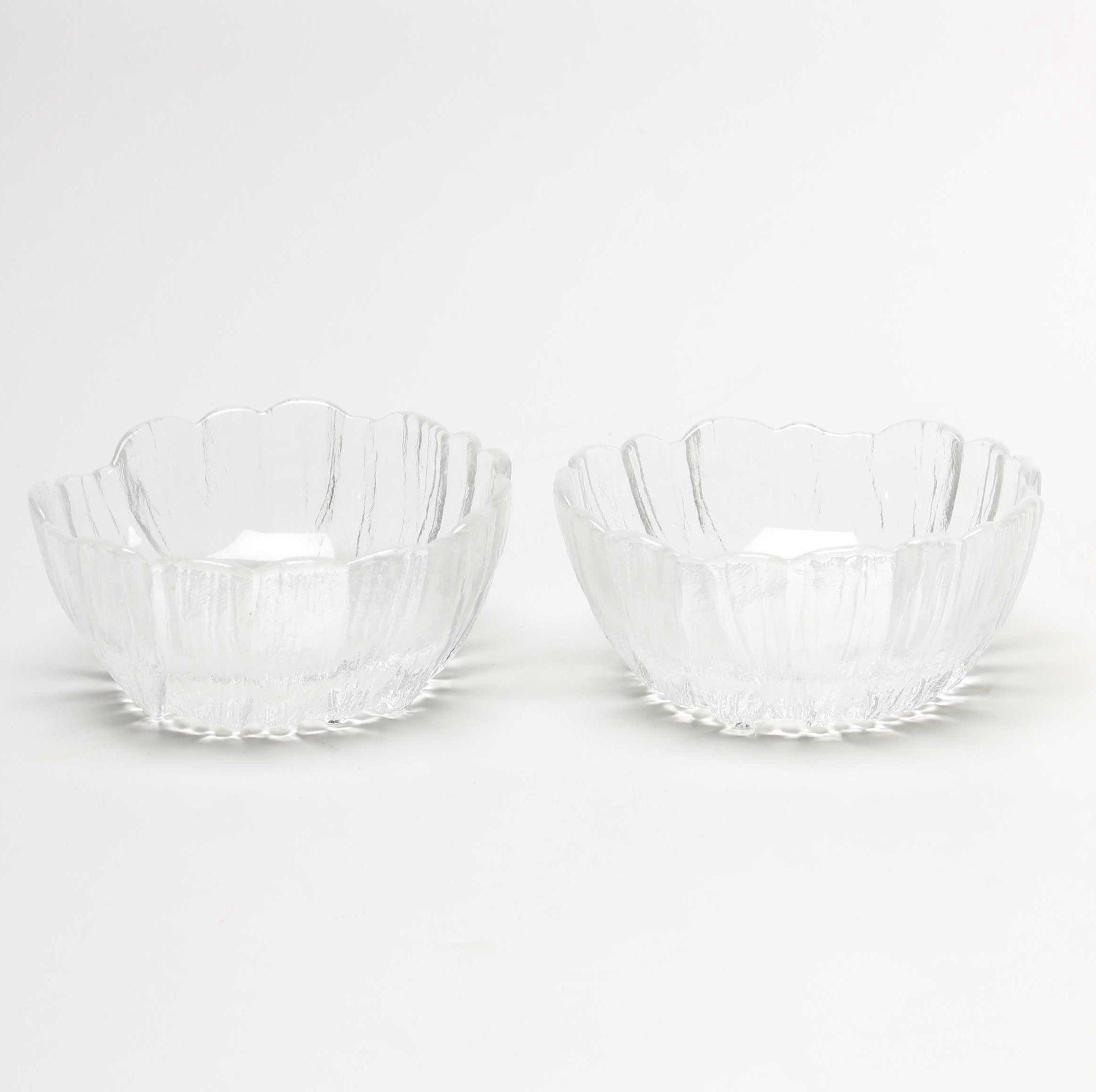 """Pair of Kosta """"Lydia"""" Crystal Bowls"""