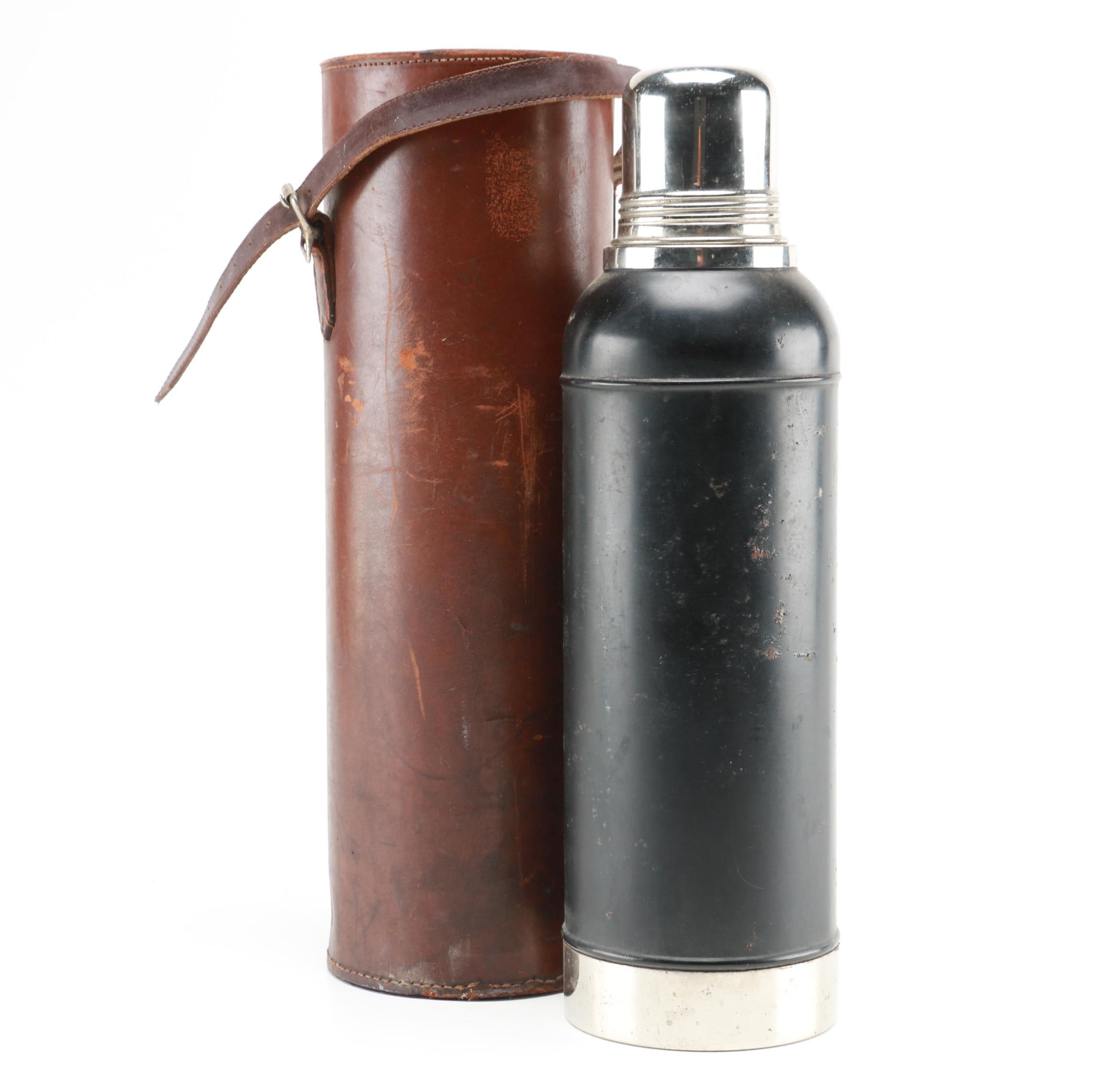 Stanley Insulating Company Thermos and Leather Holder