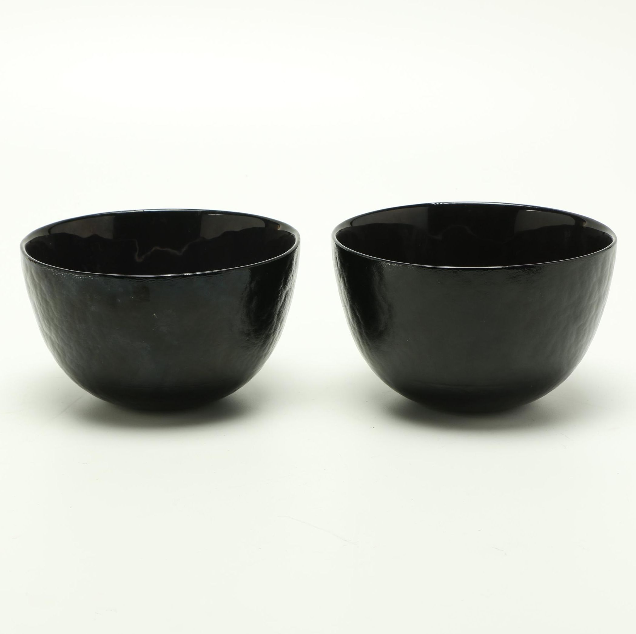 Handmade Målerås Deep Purple Crystal Bowls