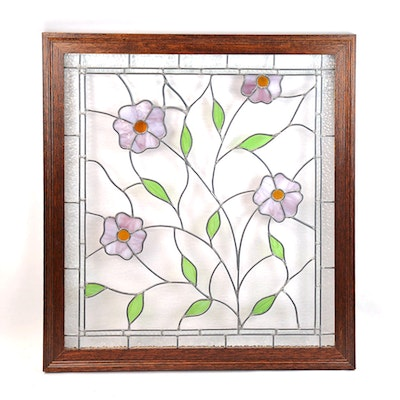 Arts and crafts stained glass window ebth for Arts and crafts glass