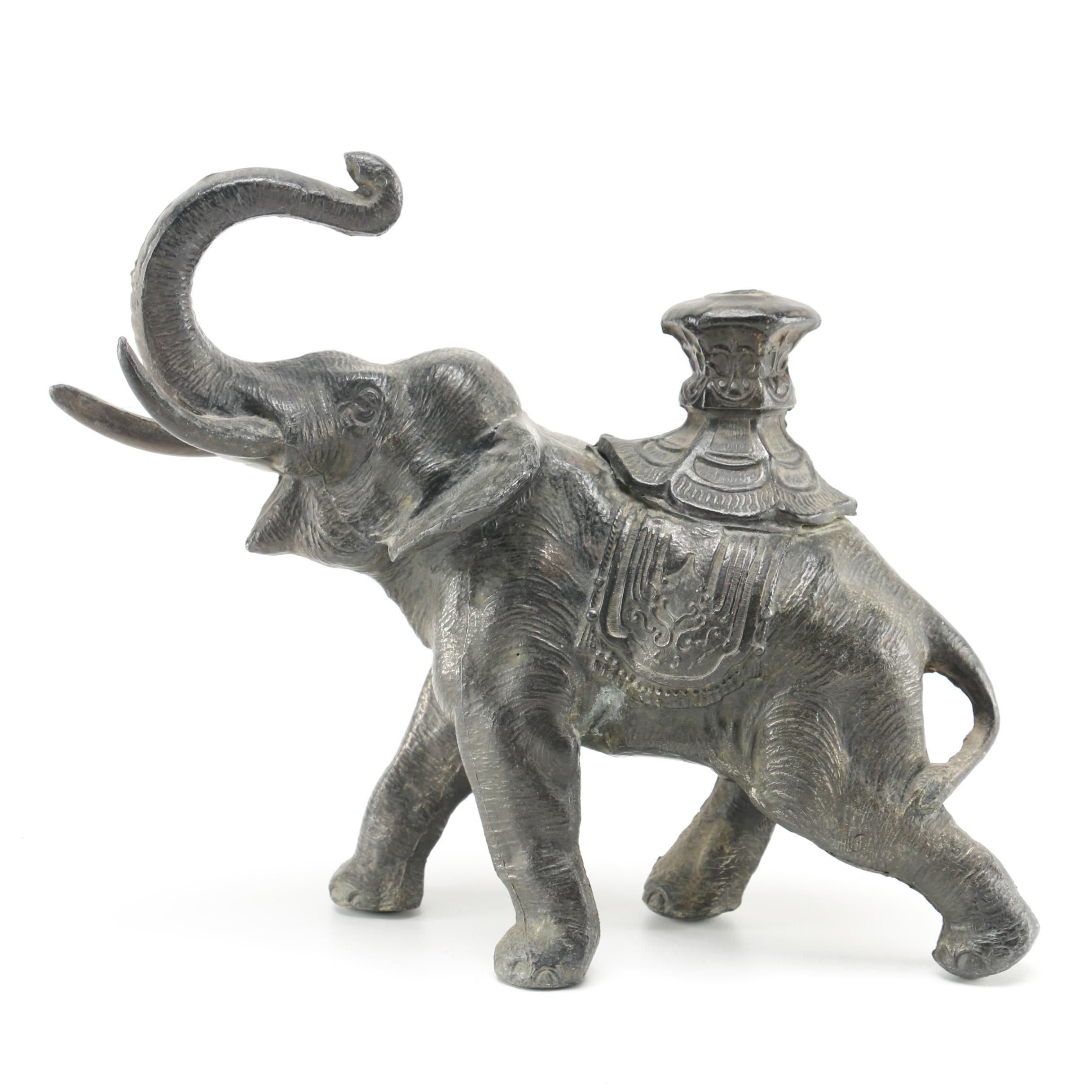 Pantinated Metal Elephant