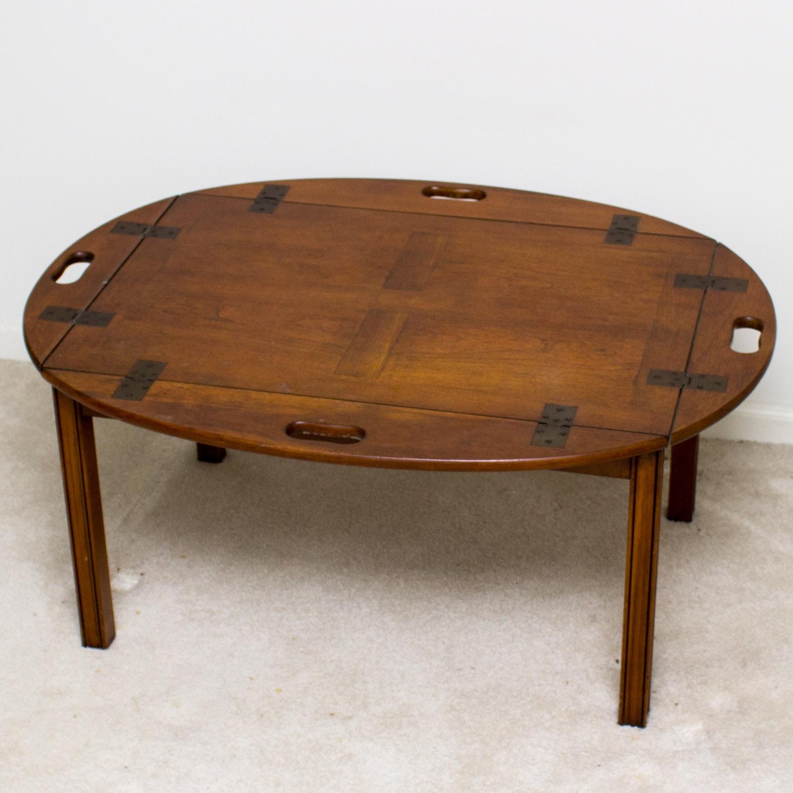 Vintage Walnut Butleru0027s Tray Coffee Table ...