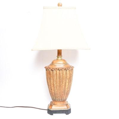 hand carved farm lamp ebth. Black Bedroom Furniture Sets. Home Design Ideas