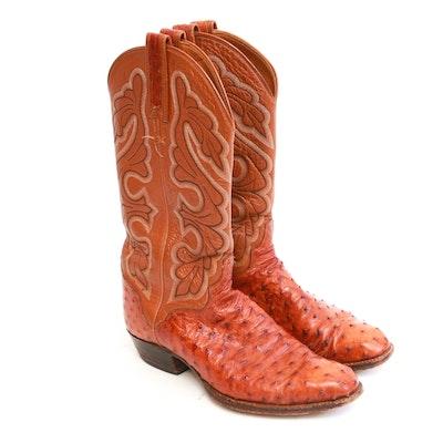 6c95cf4921a Pair of El Dorado Handmade Leather Cowboy Boots