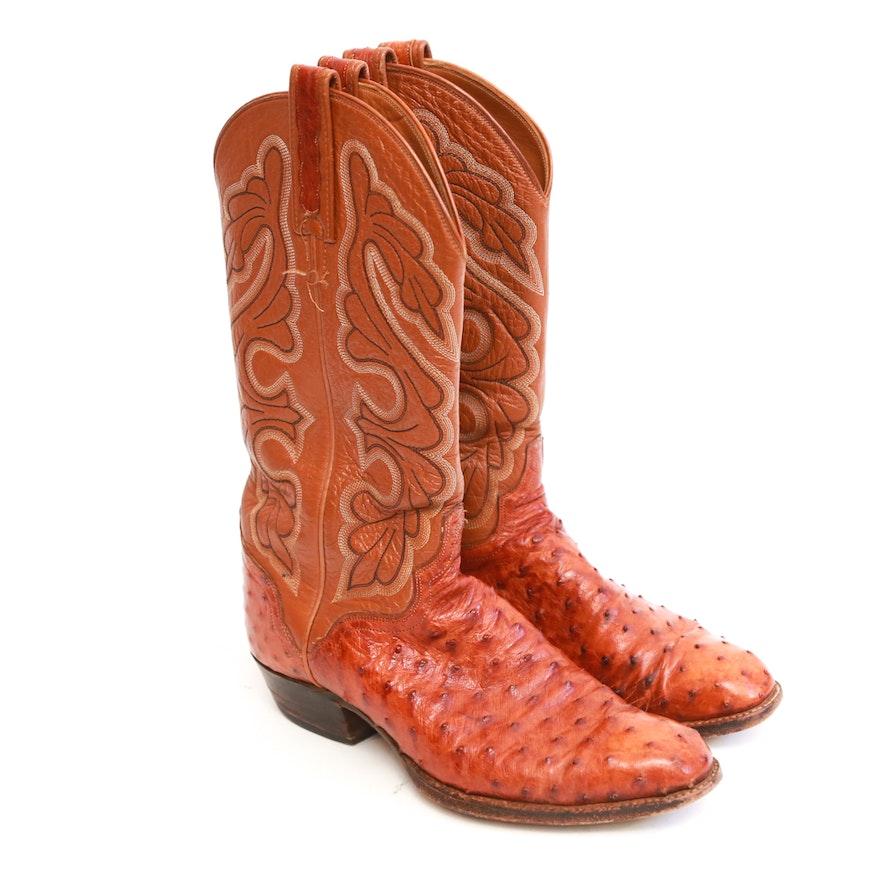 Pair of El Dorado Handmade Leather Cowboy Boots