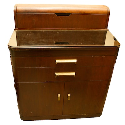Vintage Art Deco Style Walnut Dental Cabinet by Hamilton. Furniture Auctions Online   Antique Furniture Auctions in Art