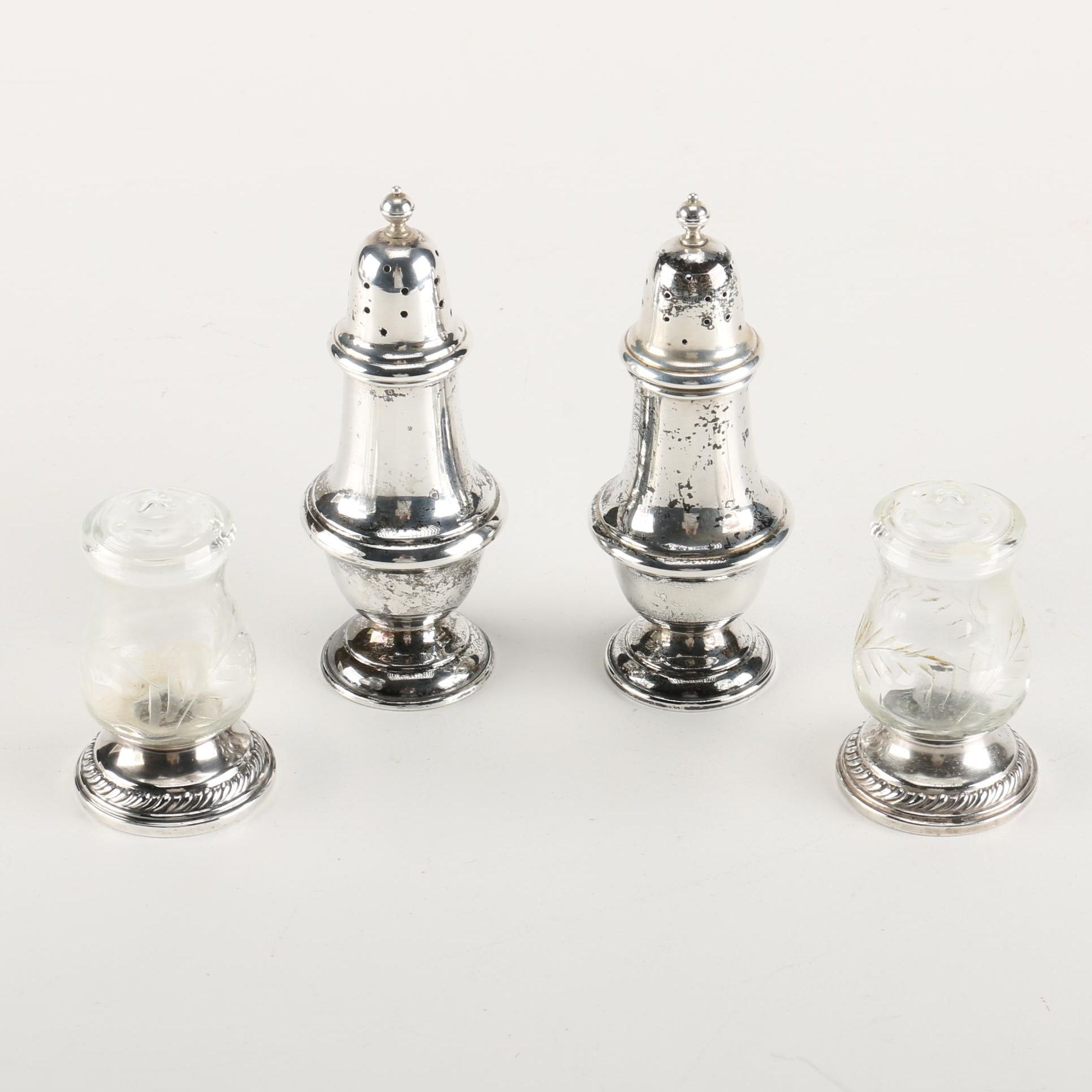Sterling Silver Salt and Pepper Shakers Including Gorham