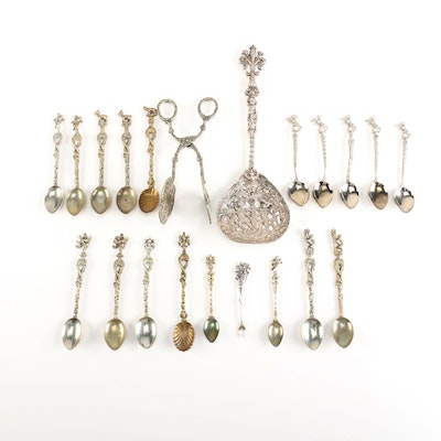 Decorative Italian Spoon and Tong collection