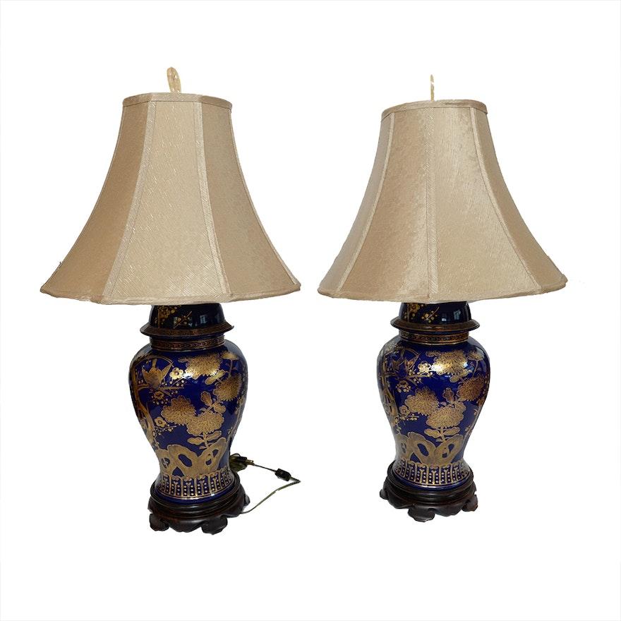 Pair Of Lillian August Porcelain Lamps