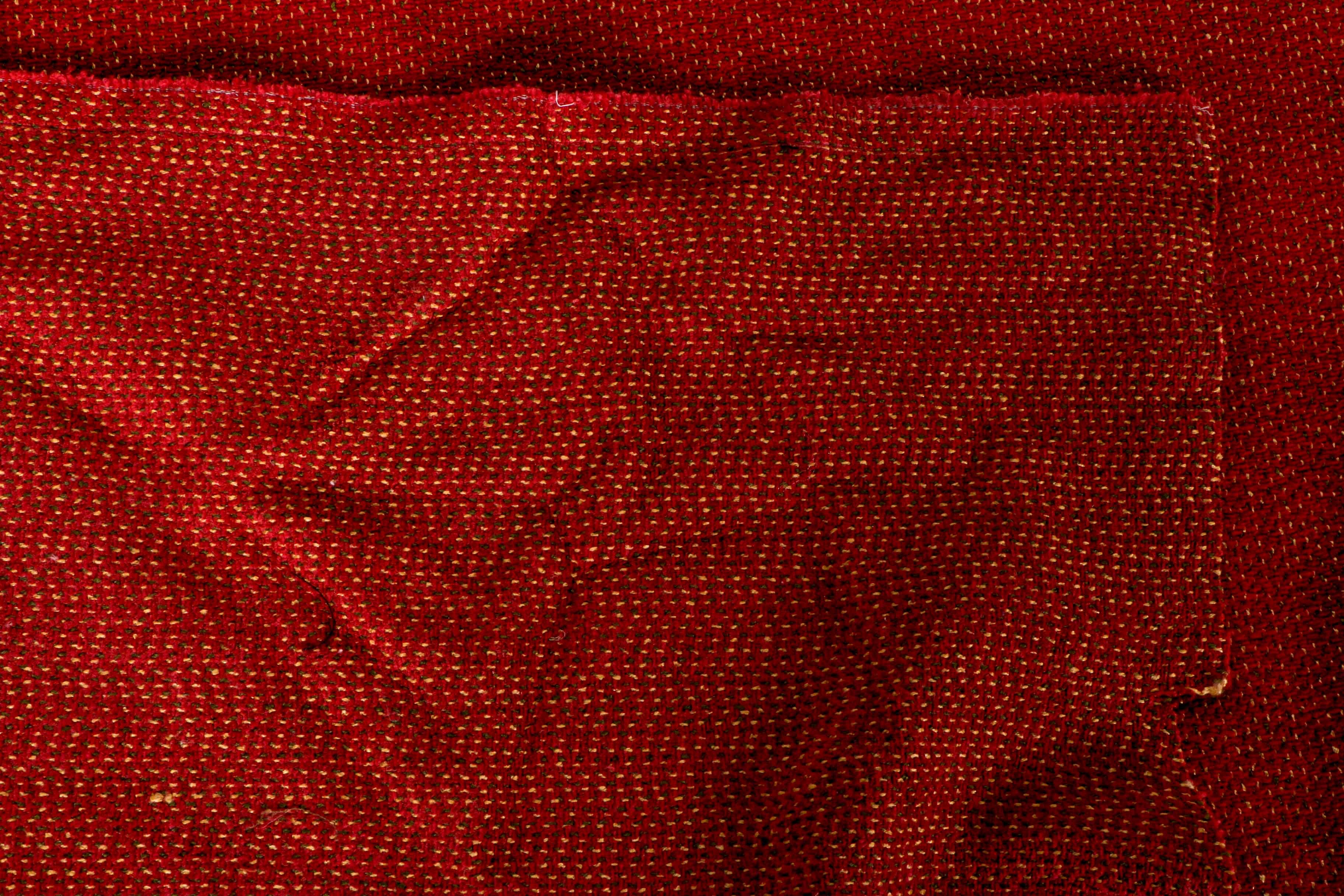 Bolt Of Red Polyester Chenille Weave Ebth