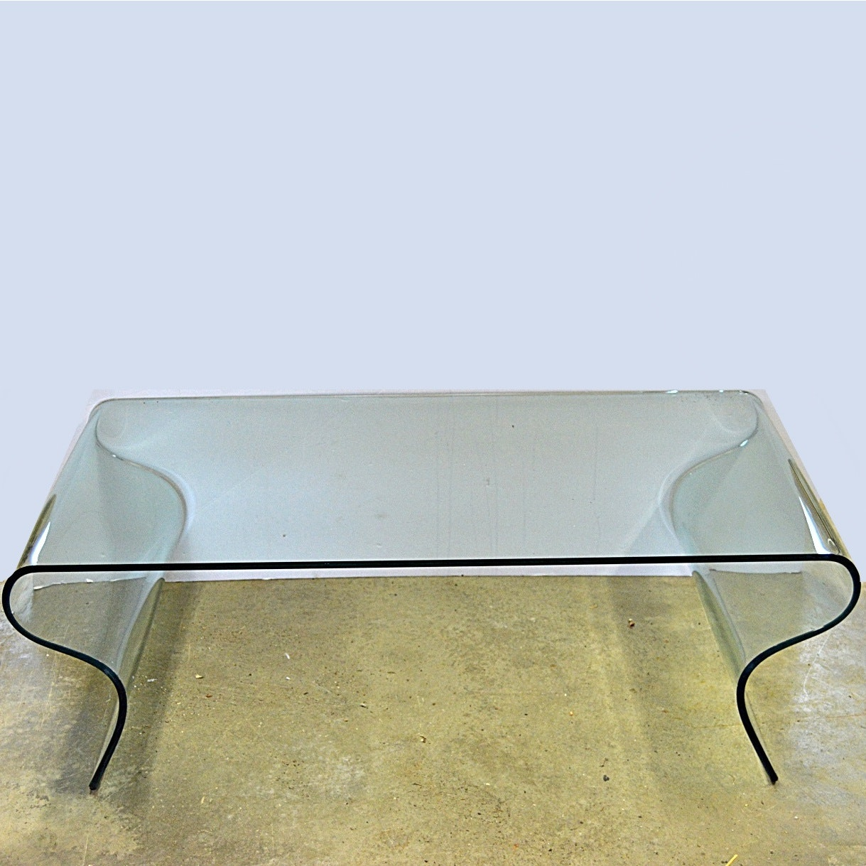 mid century modern bent glass coffee table ebth
