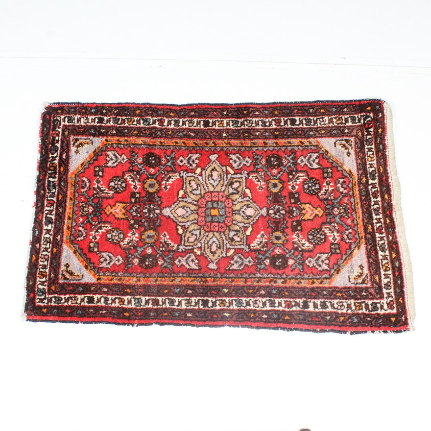Antique Hand Knotted Persian Hamadan Area Rug