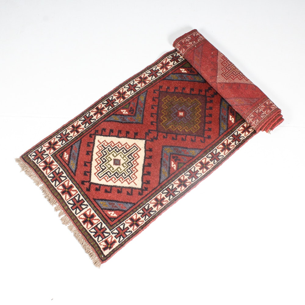Hand Knotted Turkish Oushak Runner