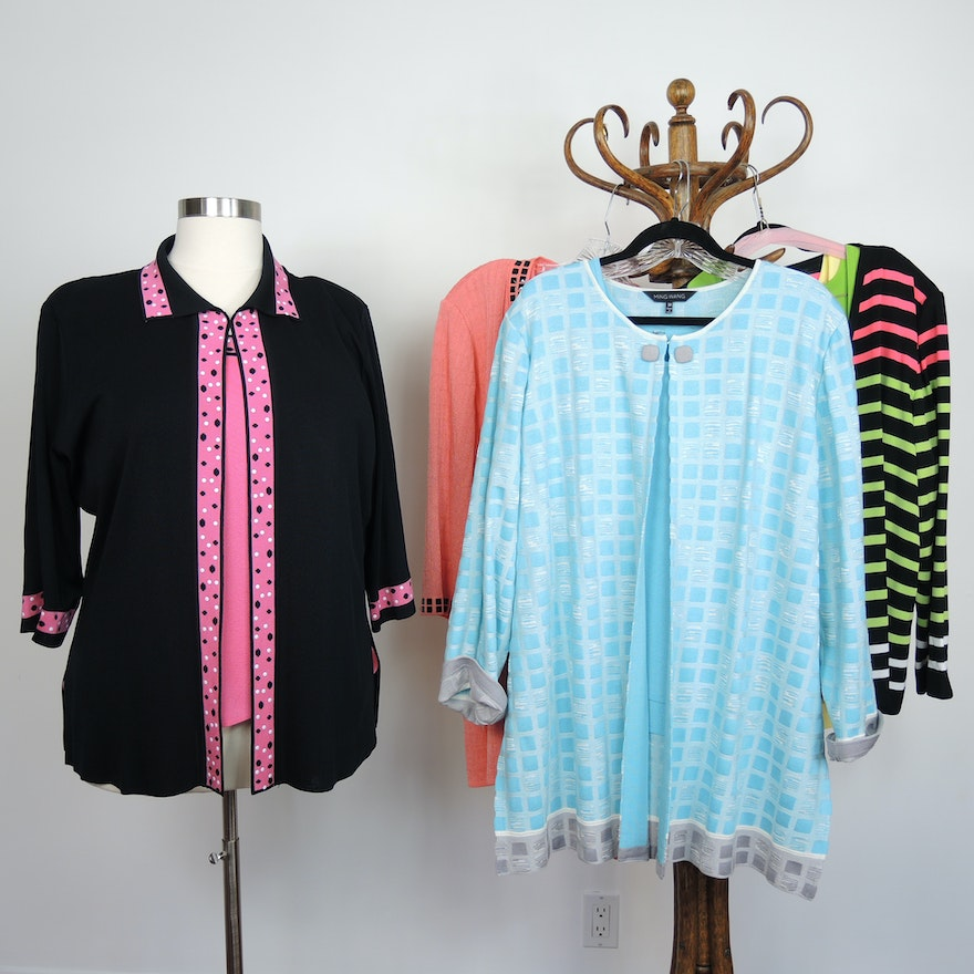 01564811abcd6 Womens Ming Wang Plus Size Knit Jackets and Tops   EBTH