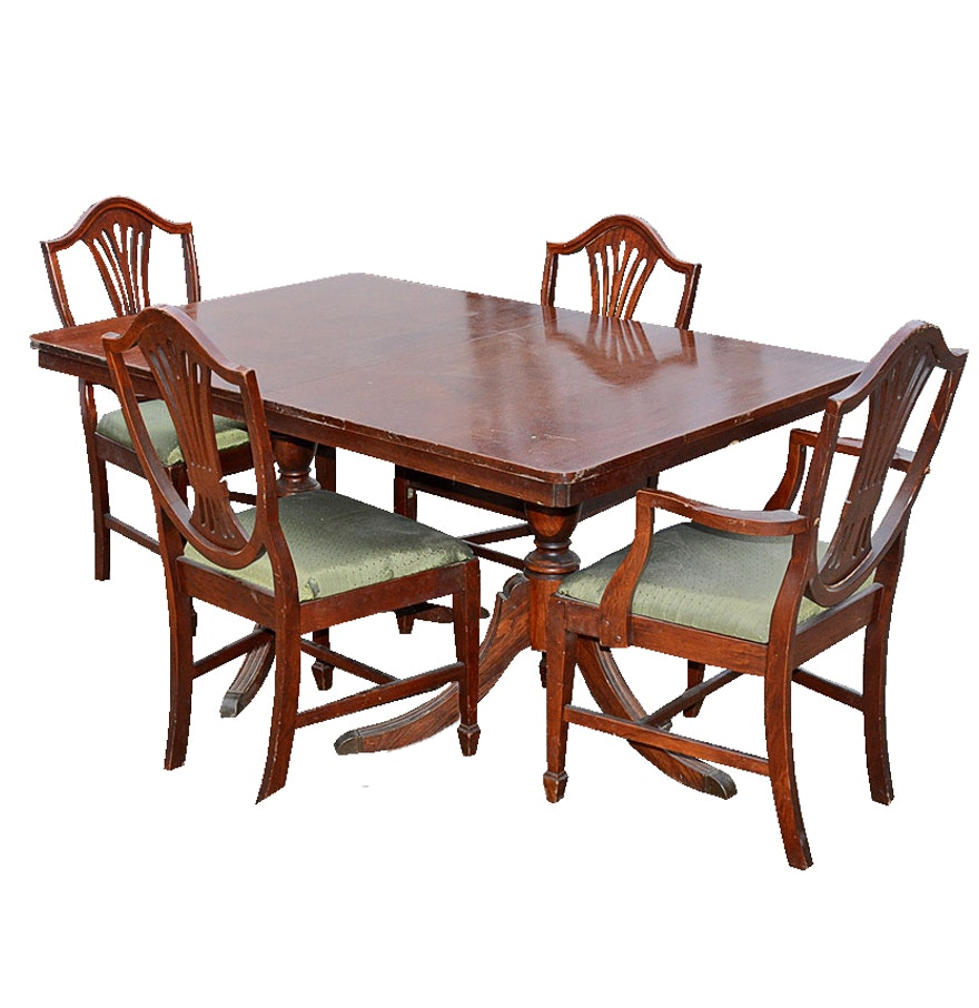 Duncan Phyfe Dining Table and Chairs. Duncan Phyfe Dining Table and Chairs   EBTH